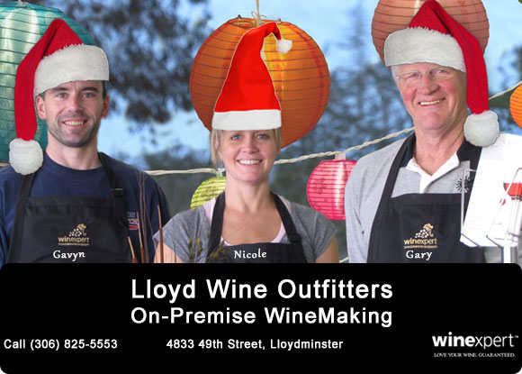 Lloyd Wine Outfitters On-Premise Winemaking. Authorized Winexpert Retailer. Call (306) 825-5553