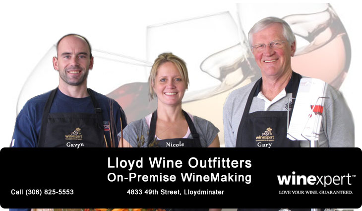 Lloyd Wine Outfitters On-Premise WineMaking. Authorized Winexpert Dealer.