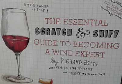 "Ney York Times Bestseller ""The essential Scratch & Sniff Guide to Becoming a Wine Expert"" available at Lloyd Wine Outfitters"
