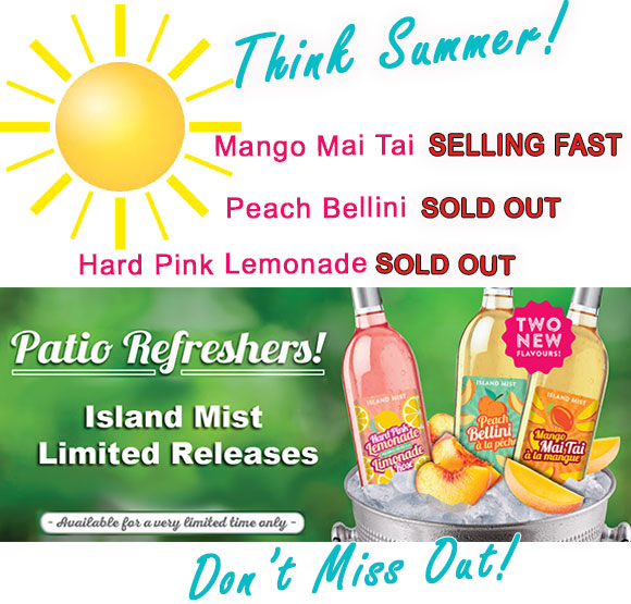 Patio Refreshers! Summer Simmers available for limited time only!