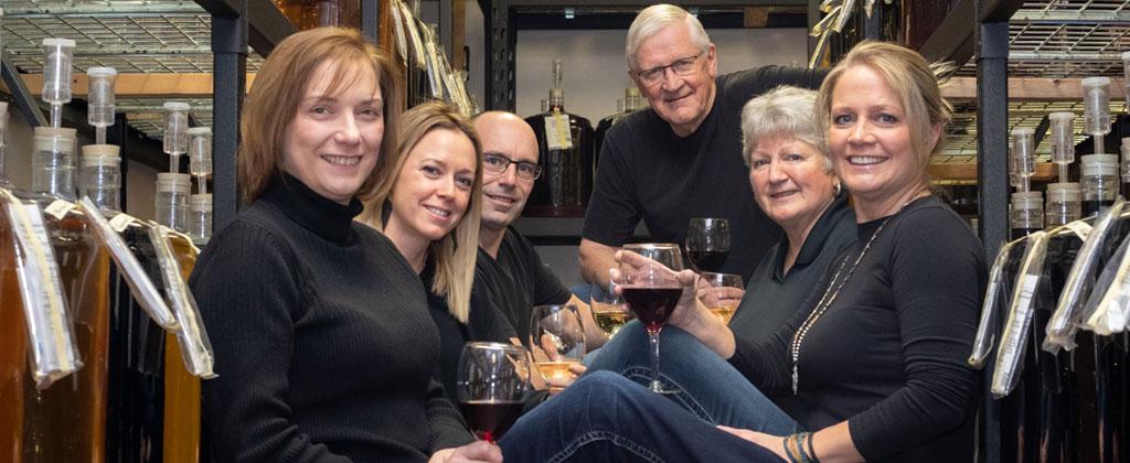 Wanda, Cindy, Nicole, Gavyn, Sharon & Gary of Lloyd Wine Outfitters