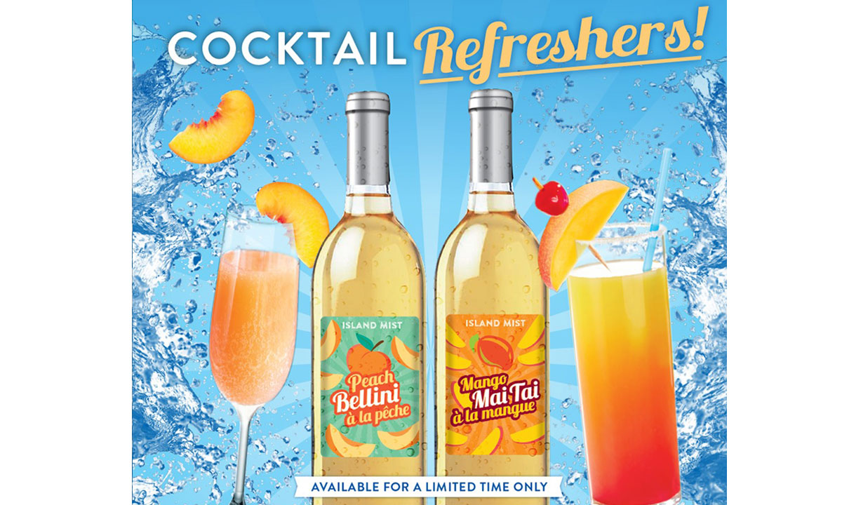 Island Mist Limited Release Cocktail Refreshers: Peach Bellini and Mango Mai Tai