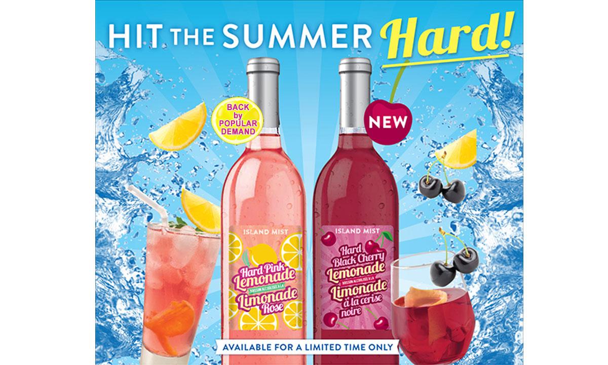 Island Mist HArd Pink Lemonade and Hard Black Cherry Lemonade