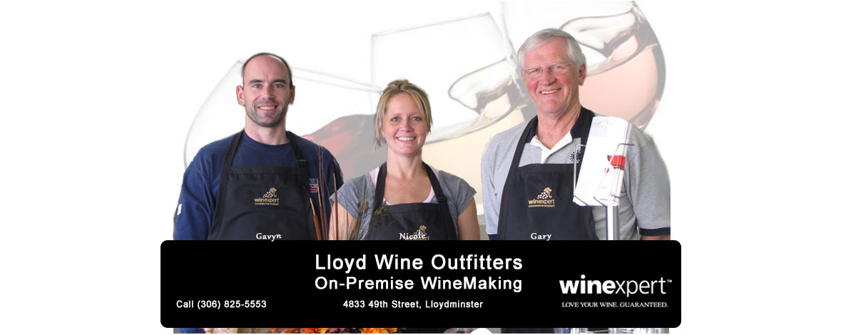 LLoyd Wine Outfitters On-Premise WineMaking | 4833 49th St., Lloydminster | CALL (306) 825-5553 | Winexpert Authorized Dealer: Love Your Wine. Guaranteed.