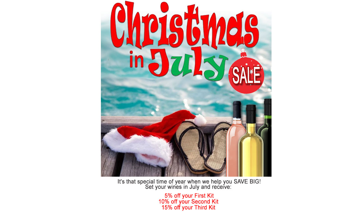 Christmas in July at Lloyd Wine Outfitters. Save BIG!