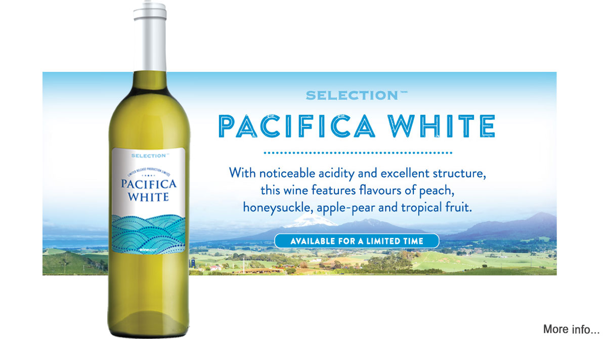 Selection Limited Release Pacifica White available for a limited time at Lloyd Wine Outfitters