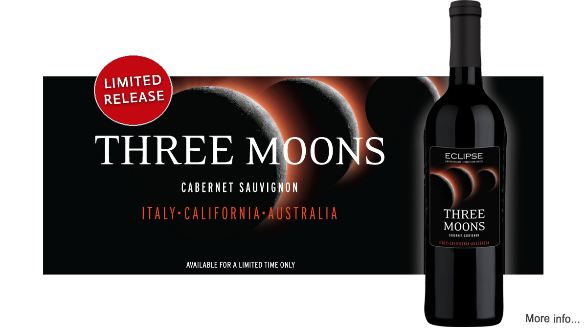 Eclipse Limited Release Three Moons Cabernet Sauvignon available at Lloyd Wine Outfitters