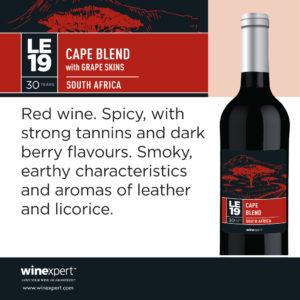LE19 Cape Blend (available April 2020)