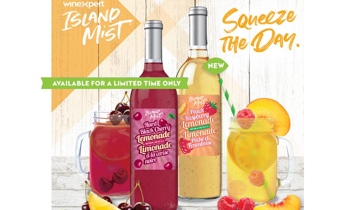 Winexpert Island Mist Hard Black Cherry Lemonade and NEW Peach Raspberry Lemonade