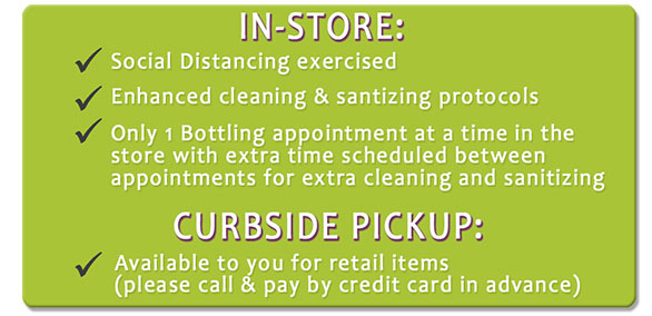 COVID-19 protocols in-store along with contactless curbside pickup