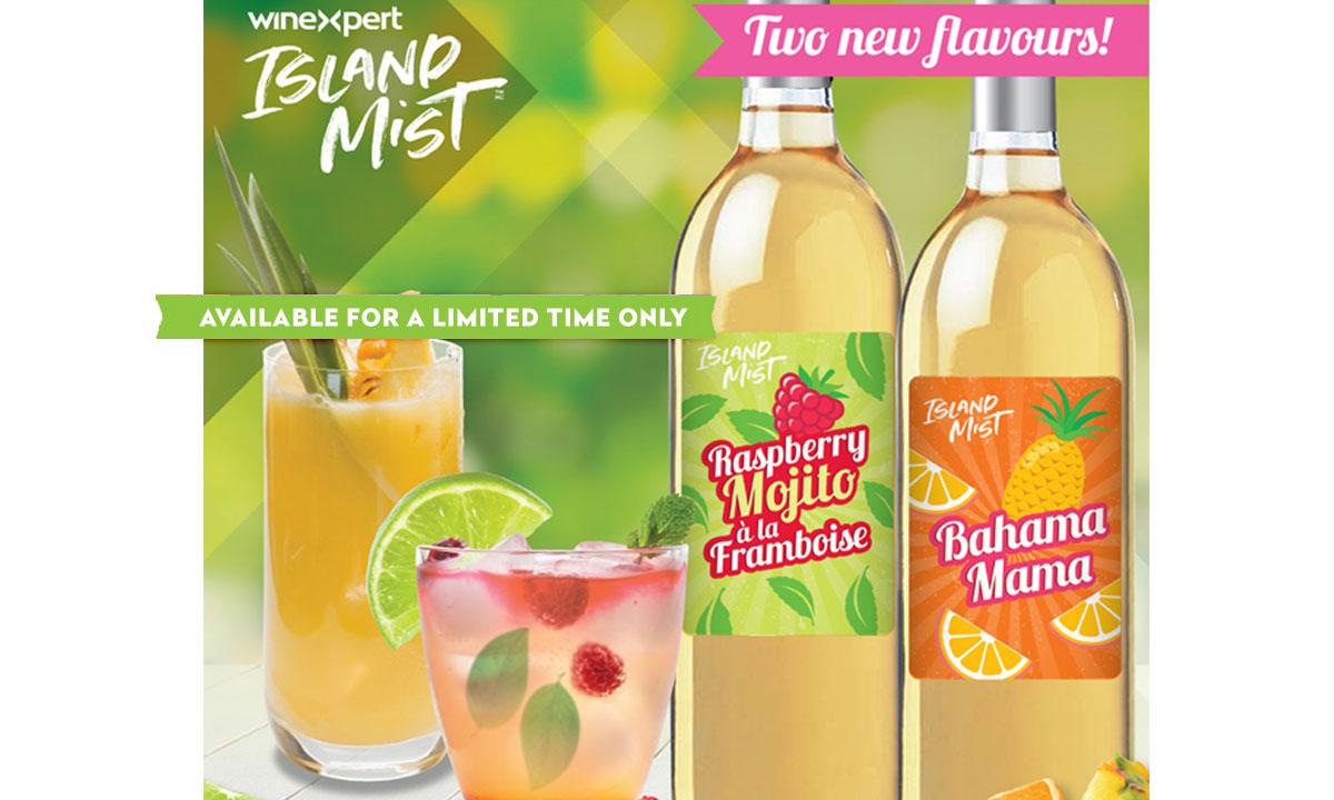 NEW Winexpert Island Mist Raspberry Mojito and Bahama Mama
