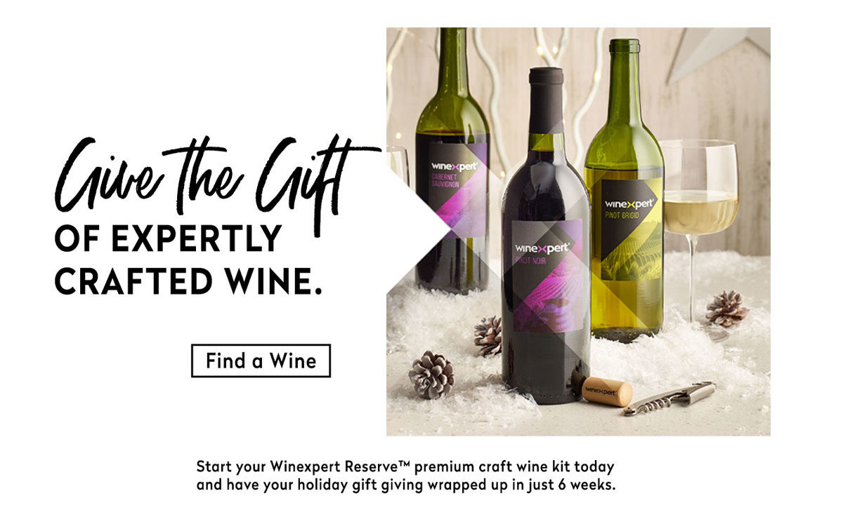 Give the gift of expertly crafted wine!